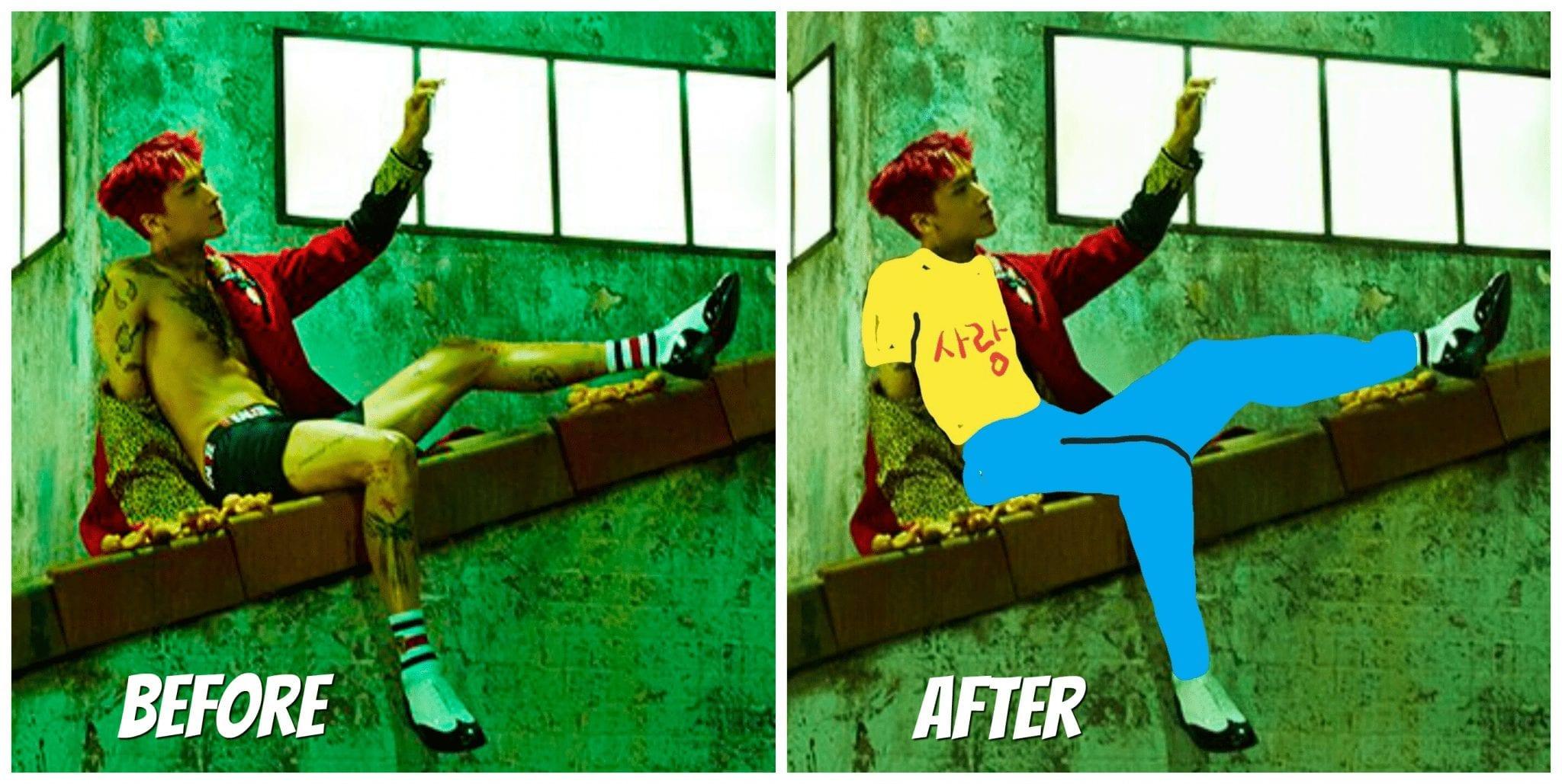 Fans Photoshop Clothes Onto VIXX's Ravi's Teaser Images