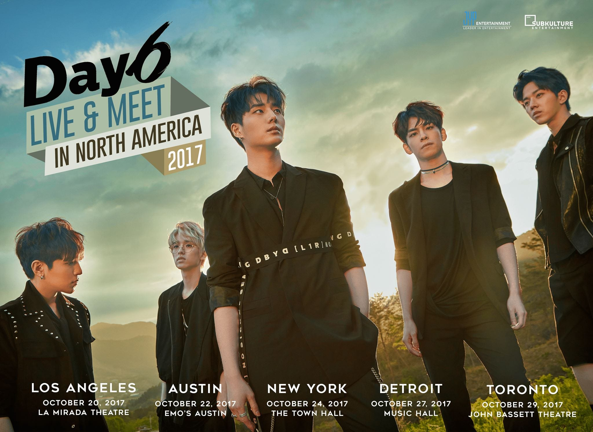 """""""DAY6 LIVE & MEET IN NORTH AMERICA 2017"""" October Tour Dates Announced"""