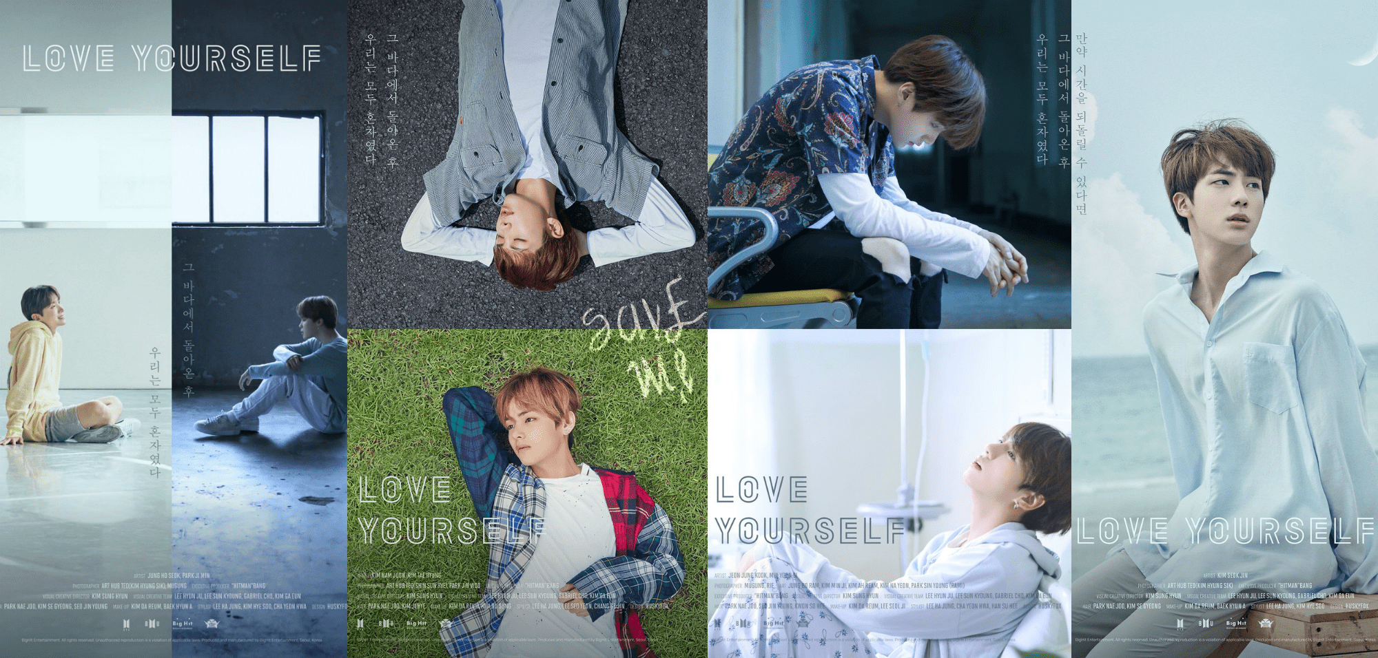 """BTS Implies Tragic Sea Story In Second Set Of """"Love Yourself"""" Posters"""
