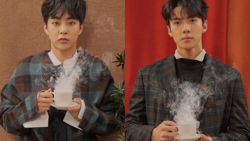 """EXO Release Cozy, Barista-Themed Teaser Photos Of Xiumin and Sehun For """"Cafe Universe"""""""