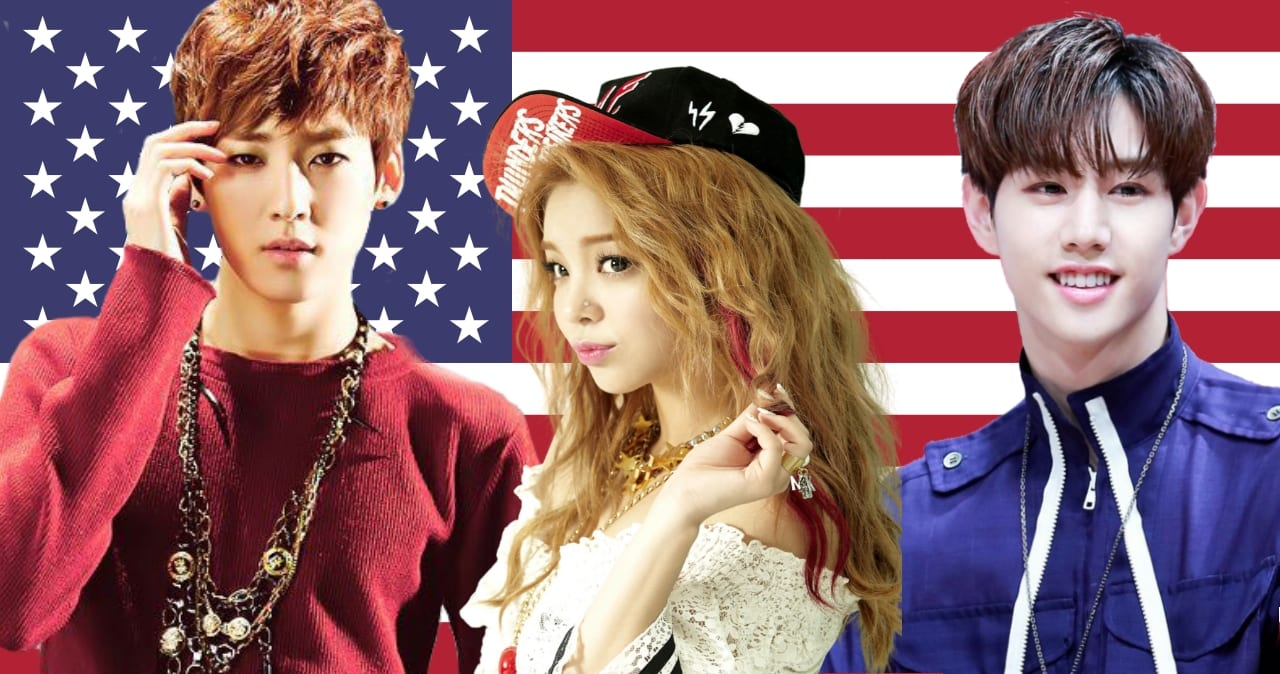 Red White Blue 17 K Pop Idols Who Were Born In The Usa What The Kpop