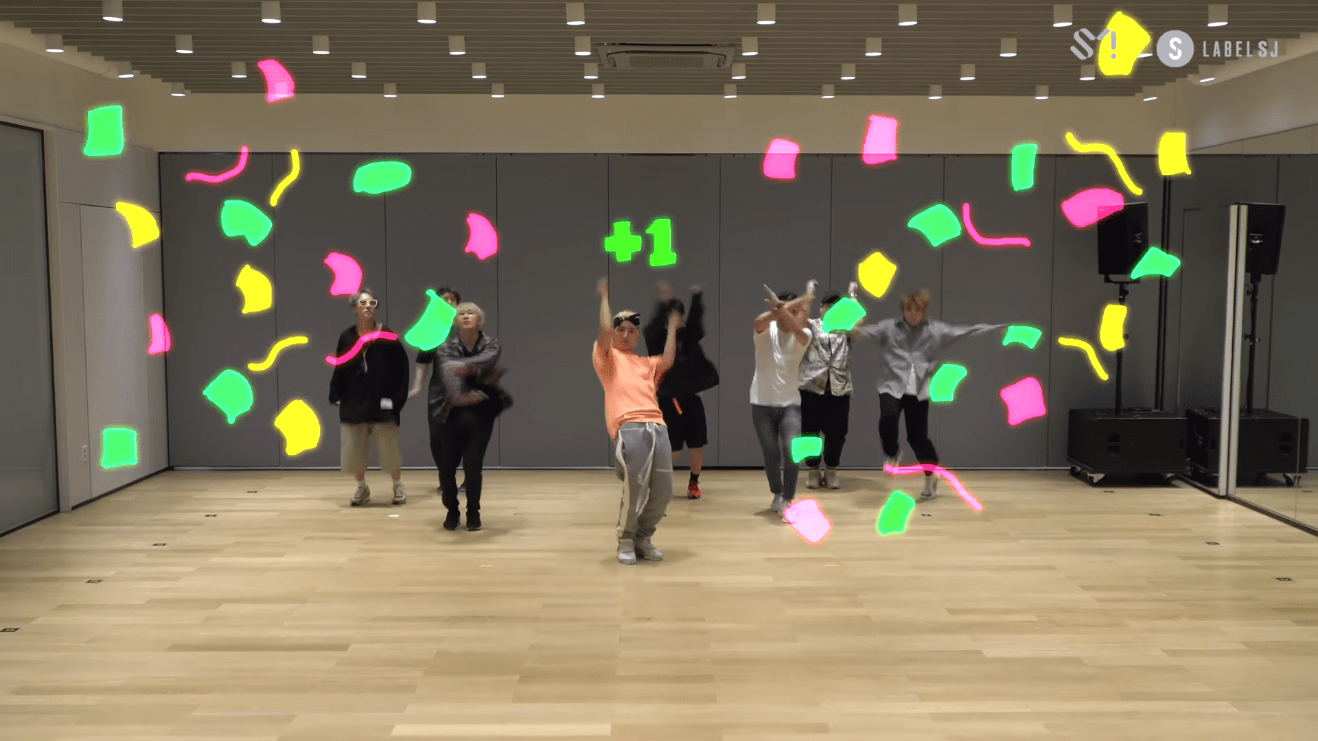 "WATCH: Super Junior Enhances Their Practice In Fun Motion Graphics Dance Video For ""Super Clap"""