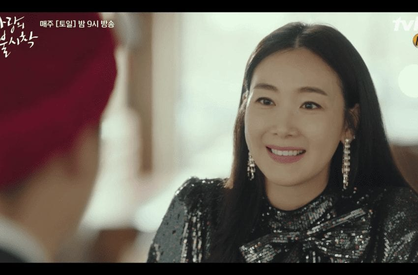 """Actress Choi Ji Woo Recreates Famous """"Stairway To Heaven"""" Scene In Special Cameo On """"Crash Landing On You"""""""