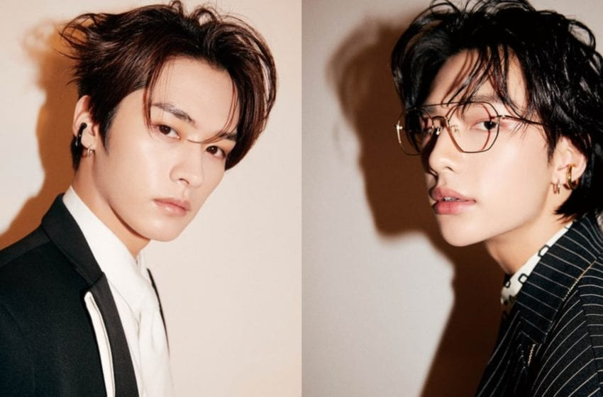 Stray Kids' Lee Know And Hyunjin Show Off Chic Fashion In New ARENA Magazine Photoshoot