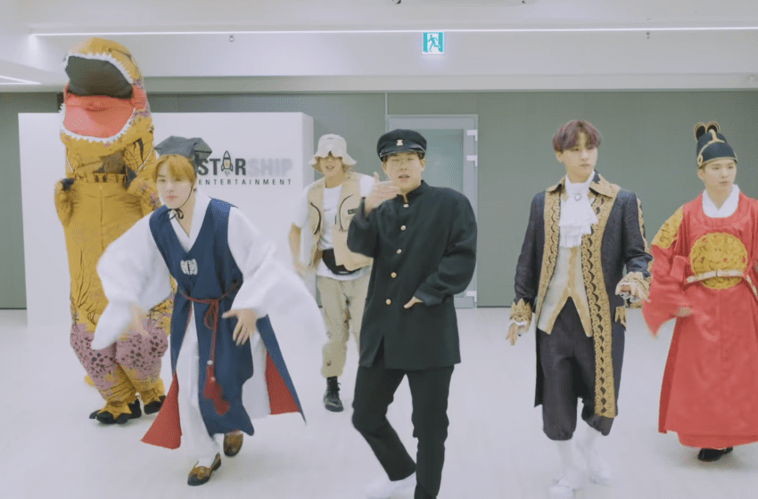 "WATCH: MONSTA X Drops Fun Costume Version Of ""FANTASIA"" Dance Practice"