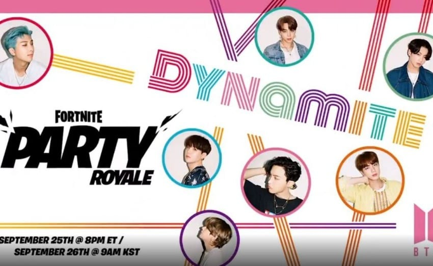 """BTS To Premiere """"Dynamite"""" Choreography Music Video In Fortnite Party Royale"""